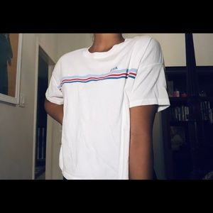 "White Abercrombie ""USA"" graphic tee"
